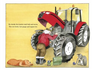 FArmer Christms tractor travels