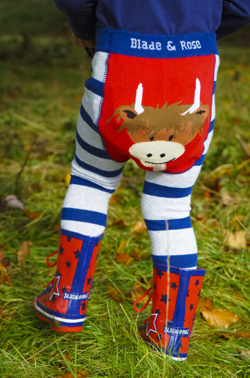 Highland cow bum leggings for babies and toddlers