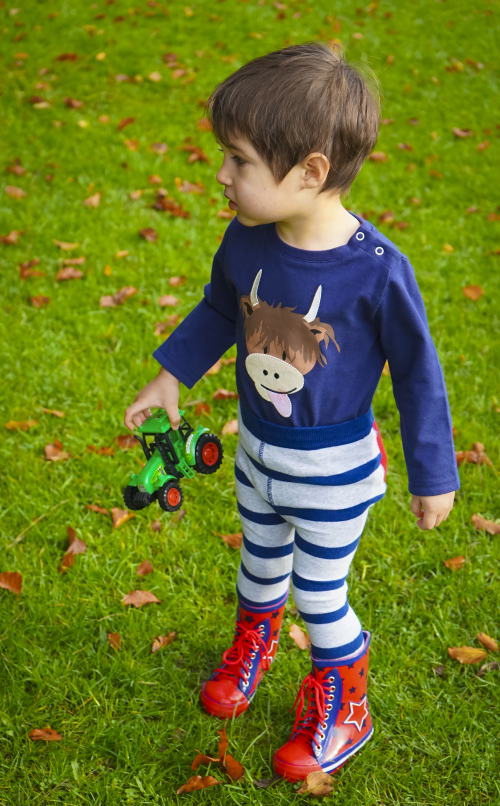 Long sleeved highland cow top for toddlers & babies